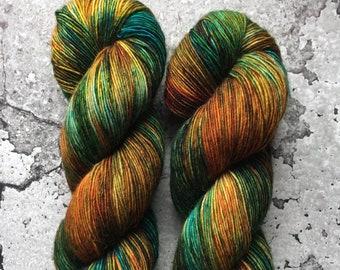 Hand Dyed Merino Single Ply Fingering Yarn - FRED & GEORGE