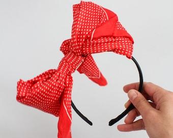 The Cutifer, a ooak, vintage scarf, bow headband