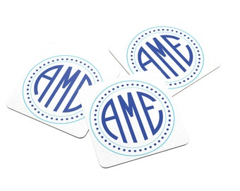 Personalized Coasters - Monogram - Wedding Monogram - Paper Coaster - Wedding Favors