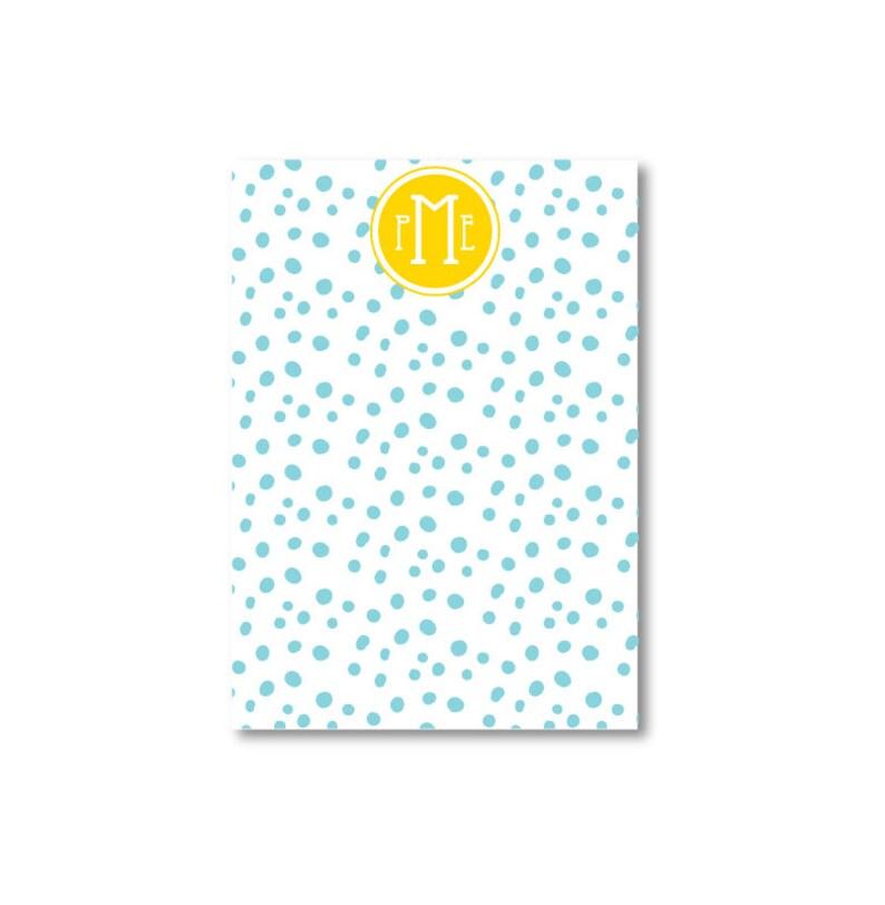 Dalmatian Dot Monogrammed Notepaper