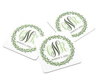 Personalized Wedding Coaster - Paper Coaster - Monogram Coasters