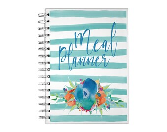 Meal Planner Spiral Notebook - Watercolor Floral