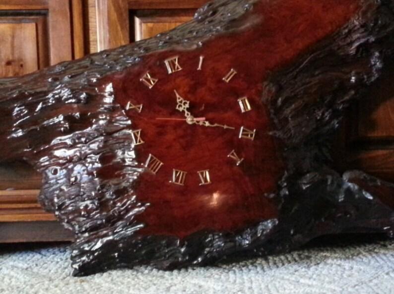 vintage 54L x 24 Hx 3 1/2WCalifornia Redwood Clock Large