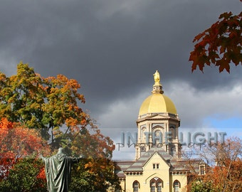 Golden Dome at University of Notre Dame in the Fall 3 - Fine Art Photography, Portrait or Landscape