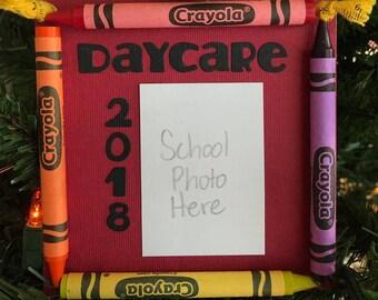 Ornement de Photo de 2018 garderie Crayon souvenir école