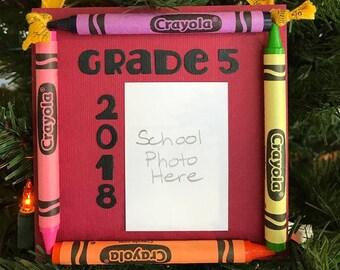 2018 grade 5 colorie souvenir l'école Photo ornement