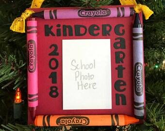 Ornement de Photo de 2018 maternelle colorie souvenir l'école