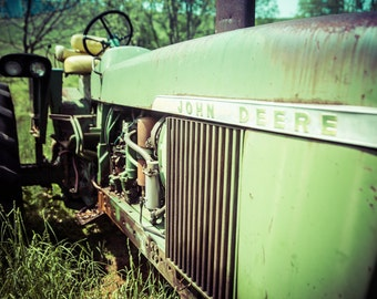 John Deere, Old Green Tractor, Farm Art, Country Home Decor, Barn Wall Art,  Country Kitchen Decor,Farmhouse Photography,Country Living,Green