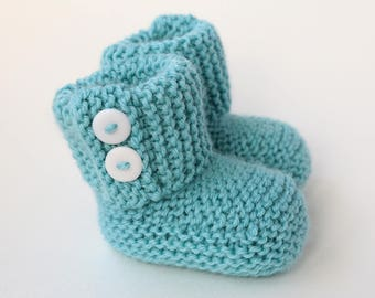 e9977a9878d9 Baby Booties Knitting Pattern Easy Knit Baby Shoes PDF