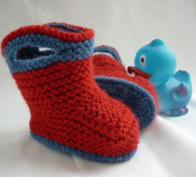 Baby Booties Knitting Pattern Baby Boots Pattern pdf | Etsy