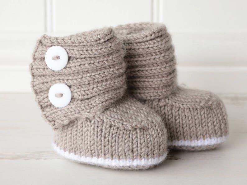 21030d080 Baby Boots Knitting Pattern JADEN