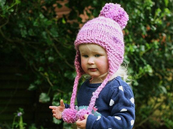Knitting Pattern Earflap Hat Pattern Pom Pom Hat Baby Hat Etsy