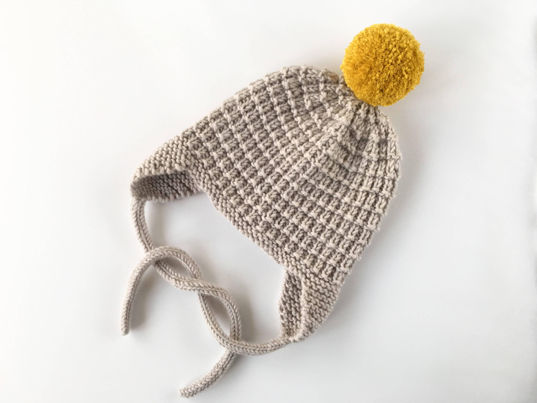 Baby Hat Pattern PDF Knitting Pattern Pom Pom hat pattern | Etsy
