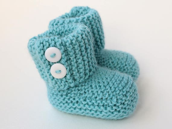 Baby Booties Knitting Pattern Easy Knit Pattern Modern Baby Etsy
