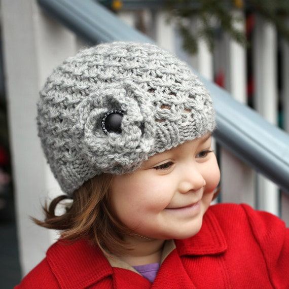 Pdf Knitting Pattern Girls Hat Pattern Hat Pattern For Girl Etsy
