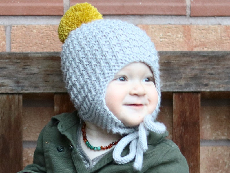 84dbed3fa15 Knitting Pattern for Baby Hat with Pompom CULLEN
