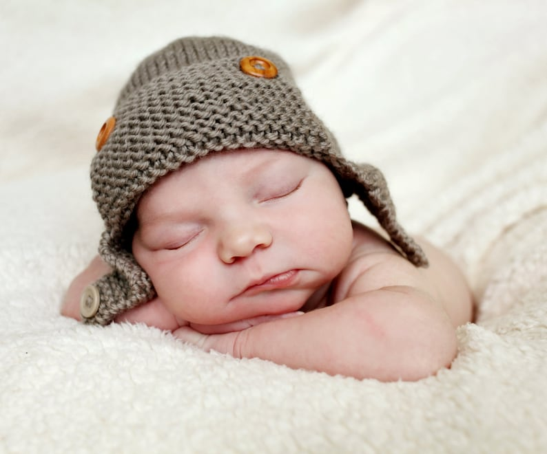 c32ac3665cb Aviator Hat Knitting Pattern Baby   Child sizes REGAN