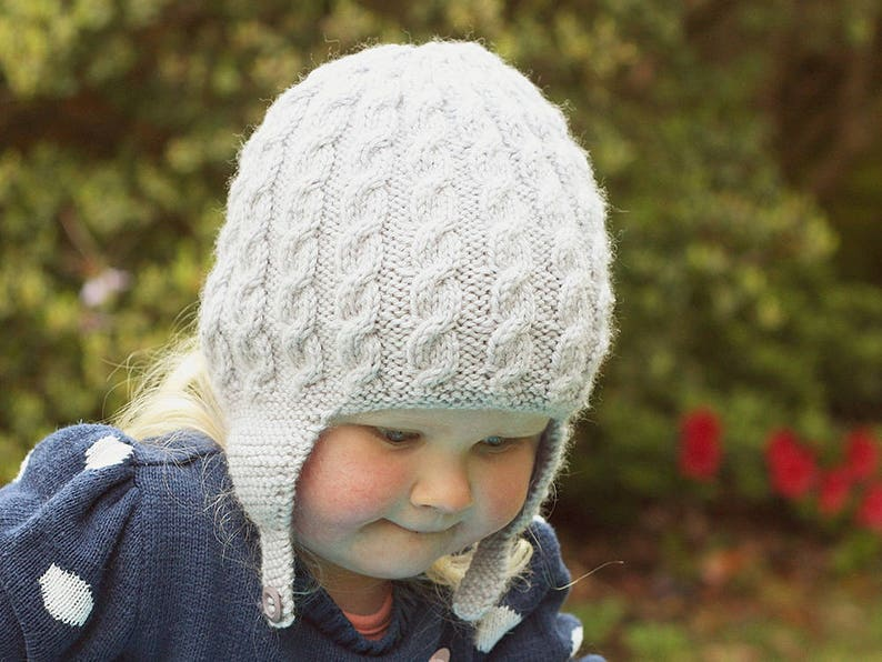 edf41abc32b Earflap Hat Knitting Pattern Baby and Child sizes ADDISON