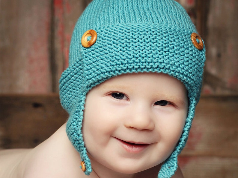 49762b88aca Baby Pilot Hat Knitting Pattern WRIGHT FLYER