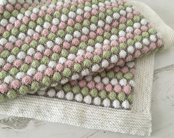 Baby Blanket Knitting Pattern BUBBLE BLANKET