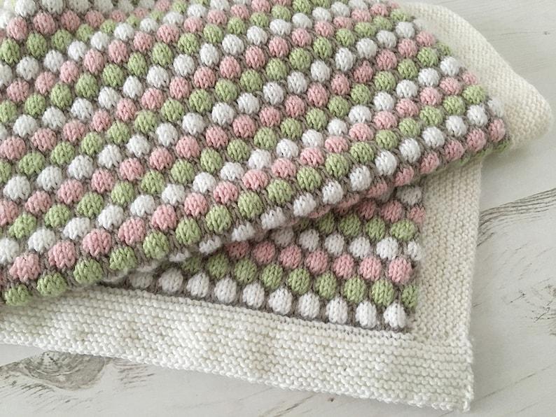 Baby Blanket Knitting Pattern BUBBLE BLANKET image 0