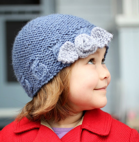 Knit Hat Pattern For Girls Hat Knitting Pattern Beanie Hat Etsy