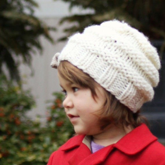 Hat Knitting Pattern Slouchy Hat Pattern Instant Download Etsy