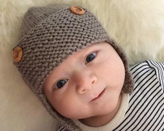 Baby Aviator Hat Knitting Pattern - REGAN