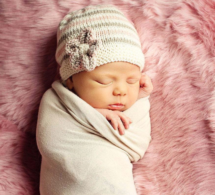 Baby Hat Knitting Pattern, PDF Pattern, Easy Knit Baby Hat Knitting ...