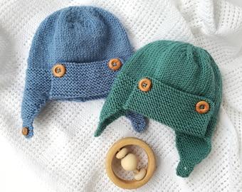 Baby Pilot Hat Knitting Pattern - WRIGHT FLYER