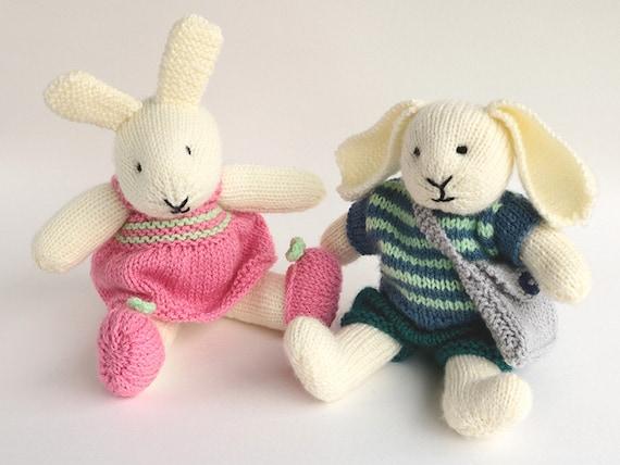 Toy Knitting Pattern Rabbit Knitting Pattern Robert And Etsy