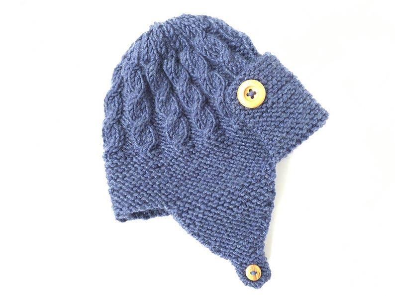 5d1d581ca64 Baby Aviator Hat Knitting Pattern Boys Hat Pattern DAYTON