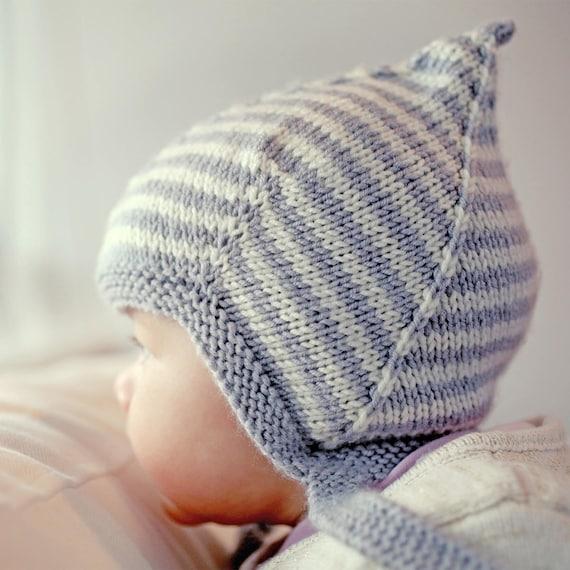 Pixie Hat Knitting Pattern Baby Knit Pdf Baby Hat Knitting Etsy