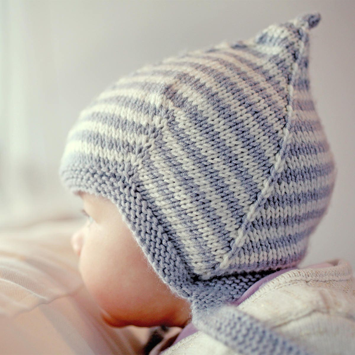 Pixie Hat Knitting Pattern, Baby Knit PDF, Baby Hat Knitting Pattern ...