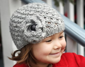 Hat Knitting Pattern, Knit Hat Pattern, Beanie Hat, Hat Pattern for Girl, Instant Download PDF Pattern, Child to Adult sizes - MIA