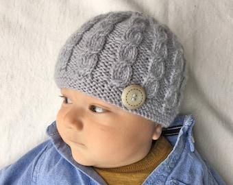 Baby Hat Knitting Pattern, Knit Baby Beanie PDF Pattern HARPER