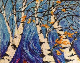 They will be back 18 by 24 by 1 3/4 Inch Original Impasto Oil Painting by Paris Wyatt Llanso
