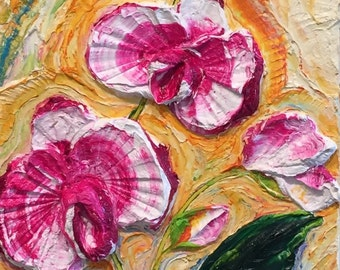 Orchid Pink 12x24 inches Original Impasto Oil Painting by Paris Wyatt Llanso