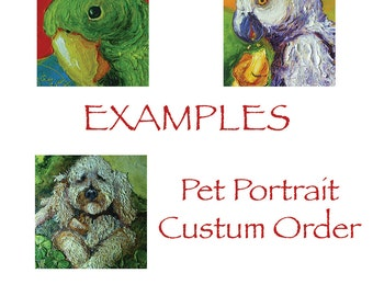 Custom Order for 12x12 Pet Portrait Original Impasto Oil Painting by Paris Wyatt Llanso