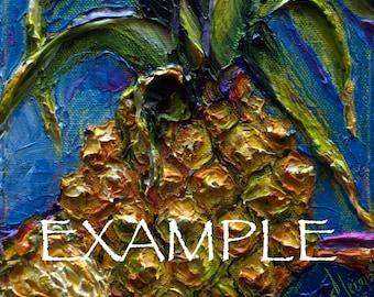 Kitchen Custom Order for 8x8 Original Impasto Oil Painting by Paris Wyatt Llanso