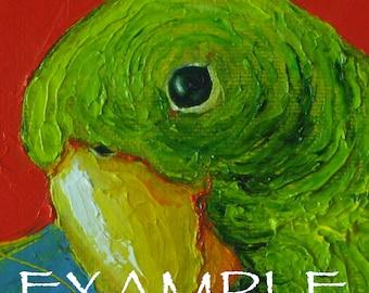 Custom Order for 6x6 Pet Portrait Original Impasto Oil Painting by Paris Wyatt Llanso