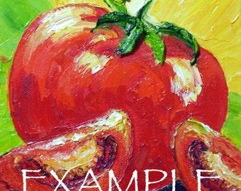 Kitchen Custom Order for 6x6 Original Impasto Oil Painting by Paris Wyatt Llanso