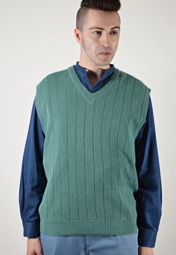 Alpaca Golf Sweater Vest, Mens Vintage 80s Clothin