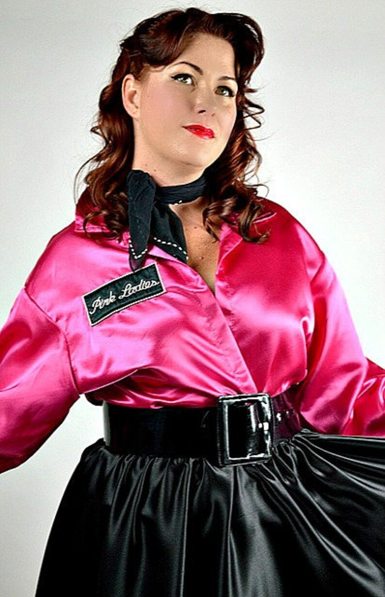 717458e67be Pink Ladies Jacket Grease Costume Pink Lady Jacket 1950s