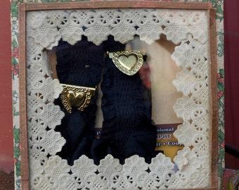 20's Garters, Antique Garters, Lingerie Garters, Black Garter, 1920s Garters, Flapper Garters, Garters for Stockings, Burlesque Garters