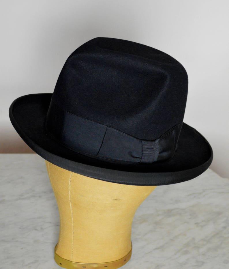 98d69cb8a07 Vintage Stetson Hat Homburg Hat Beaver Fur Hat Mens 40s