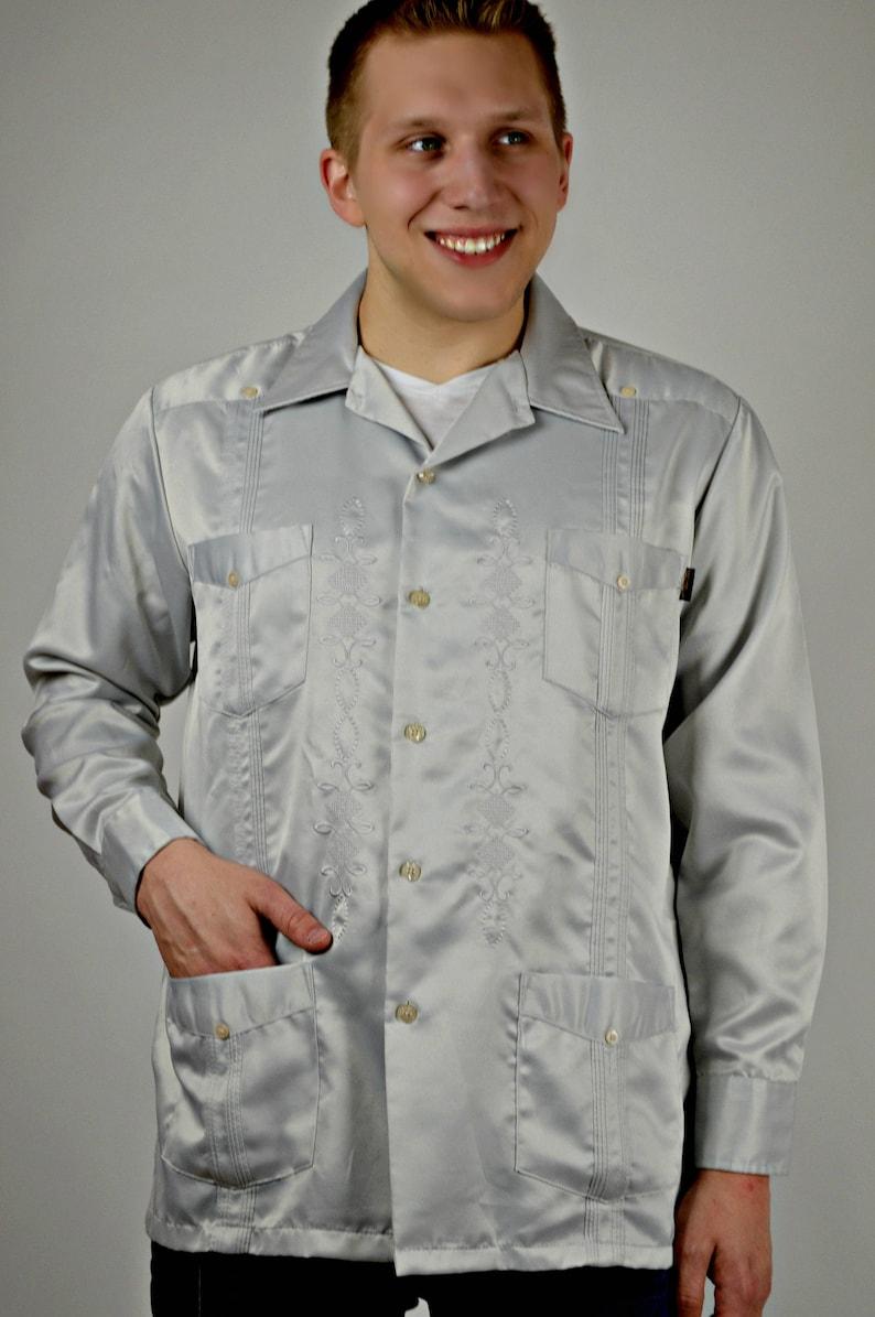 Mexican Wedding Shirt.Vintage Guayabera Shirt Mexican Wedding Shirt Mens Rockabilly Clothing Mens Vintage Clothing