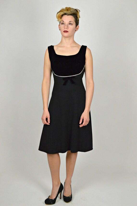 Vintage Teen Holiday Dress 1960s Black Dress Little Black Etsy