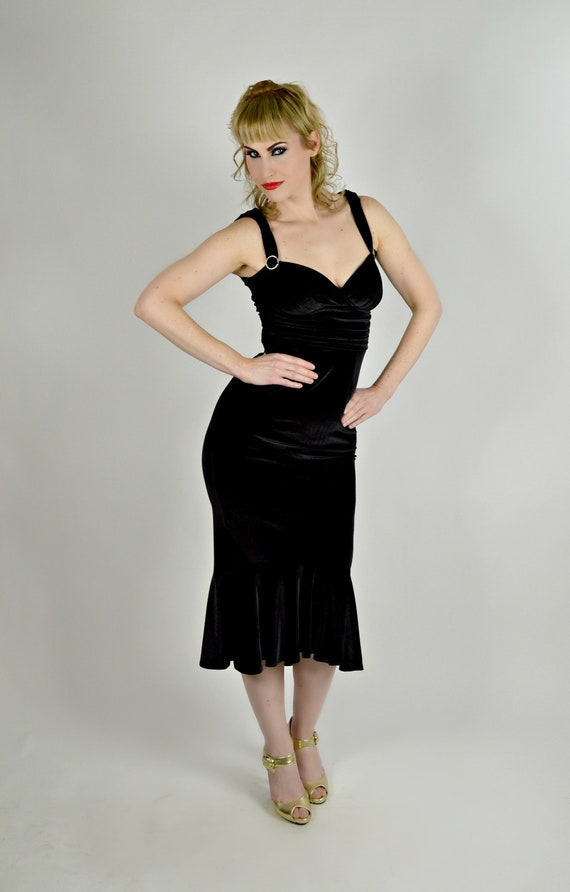 Christmas Party Dress Black Pinup Dress Bombshell Dress Etsy