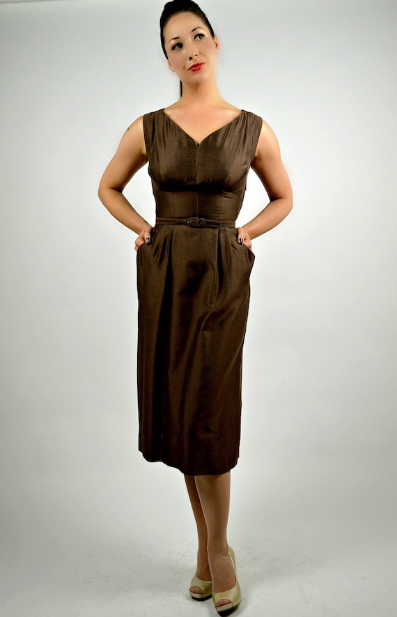 Chocolate Pinup 1950s Wiggle Professional Coat 50s Brown Clothing amp; Dress Pencil Dress Women Dress Dress Suit Brown Matching qwFqrva